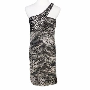 NAZZ Collection Leopard One Shoulder Bodycon Dress